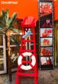 baywatch decosetting strandstoel badmeesterstoel tropical huren carecaverhuur beach tropische deco